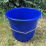 GEWA Eimer Klein Futtereimer Wassereimer Haushaltseimer mit Skala 5 L Farbwahl, Farbe:dunkelblau