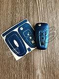 blau metallic Ford Schlüssel Aufkleber Bezüge Überzug fokus-st RS MONDEO S-MAX KUGA FIESTA C-MAX