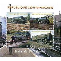 Tren sellos para coleccionistas - Los trenes de Inglaterra - 4 sellos de colección que ofrece trenes - Ideal para la recogida - excelentes condiciones - Mint NH