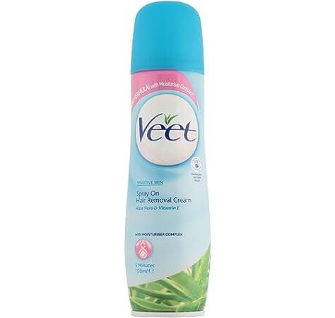 4 X Veet Spray On Hair Removal Cream With Aloe Vera Vitamin E