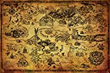 Grupo Erik Editores Poster The Legend Of Zelda (Hyrule Map)