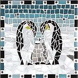 Gisela Gibbon Pinguin-Mosaik-Set, mit Fliesenzange