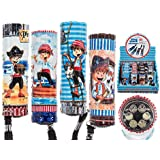 Out of the Blue 579667Pirate Torch with 6LED, Assorted, Metal, Assorted Colors, 2.5x 2.5x 8.5cm