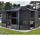 Sojag Aluminium Pavillon, Gartenlaube & Wintergarten Charleston // 384x489x281 cm (LxBxH) // Sommer und Winter Solarium