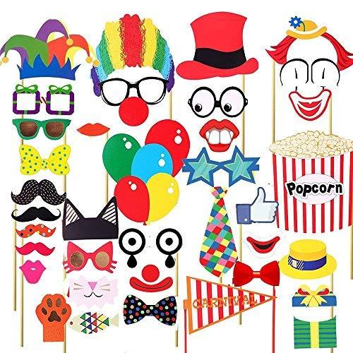 Photo Booth Requisiten Stricknadel Foto Requisiten DIY Kit für Hochzeit Geburtstag Party Requisiten verkleiden Zubehör Partyzubehör Foto Requisiten