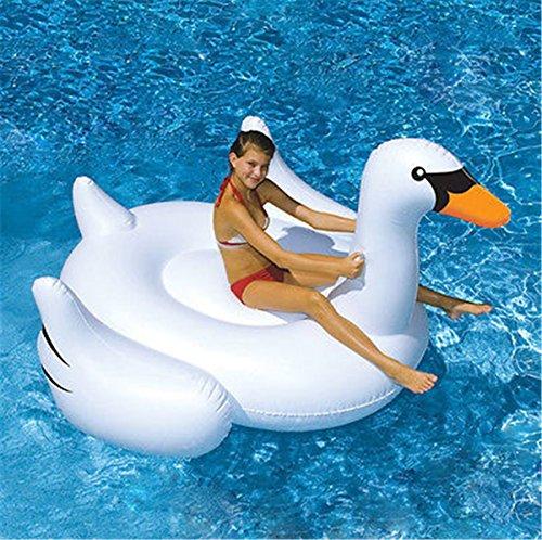 Lianshi gonfiabile gigante salvagente piscina giocattolo estivo gonfiabile bocca piatta cigno bianco