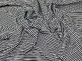 Minerva Crafts Stripey Metallic Rib Stretch Jersey Knit
