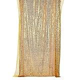 Lepeuxi 1.3 * 2 m / 4.2 * 6.5ft Shimmer Lentejuelas Fotografía Antecedentes Photo Booth Telón de Fondo Table Runner Ventana Cortina DIY Paño para el Banquete de Boda de Navidad