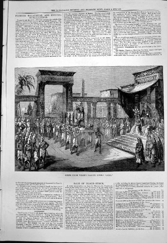 Berühmter Opern-Aida Übersetzter Russe 1876 Szene Verdis
