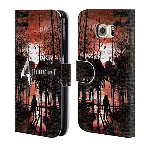 Head Case Designs Offizielle Resident Evil Poster Spiel 4 Schlüssel Kunst Brieftasche Handyhülle aus Leder für Samsung Galaxy S6