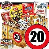 DDR Produkte L | Zahl 20 | Geburtstags Geschenk Freundin | Süßigkeiten Box