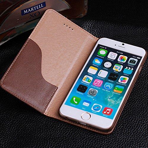 iPhone 6+ / 6S+ Cuir véritable Étui,EVERGREENBUYING - Terrapin Étui Housse en Cuir IP6+ / IP6S+ Premium Etui de Protection Case Cover pour iPhone 6 Plus / 6s Plus 5.5 inch Saphir Violet