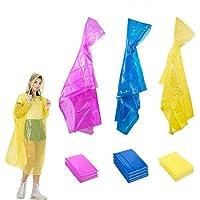 10 poncho di emergenza usa e getta con cappuccio e maniche, impermeabili trasparenti impermeabili per uomo e donna…
