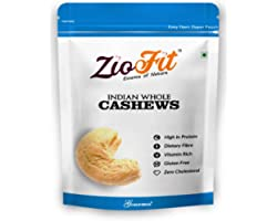 Ziofit Indian Whole Cashewnuts, 500g (Buy 1 Get 1 Free)