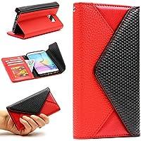 URCOVER® Custodia Portafoglio Samsung Galaxy S6 Edge  | Elegante Flip Cover Femminile di Ecopelle in Rosso | Case Fashion Chic Glamour Clip Magnetica Slot Card - Protezioni Foglio Orizzontale
