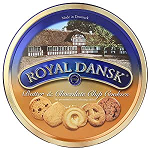 Royal Dansk Butter and Chocochip Chips Cookies, 400g