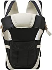 IndusBay Baby Carrier 4 in 1 Adjustable Infant Comfortable Sling Backpack & Buckle Strap - Black