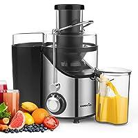 EASEHOLD Centrifugeuse Fruits et Légumes 400W Extracteur de Jus Electrique 2 Vitesses en Acier Inoxydable avec Récipient à Jus Pulpe Nettoyage Facile sans BPA pour Cuisine Maison
