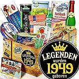 Legenden 1949 ++ DDR Korb Spezialitäten ++ Präsentkorb 70. Geburtstag