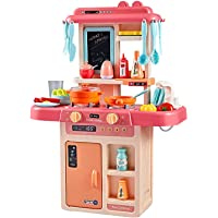 Jay Stationary Ventures Play Kitchen Set 36 Pcs with Realistic and Sound Kitchen Role Boys and Girls Playing Game Set…