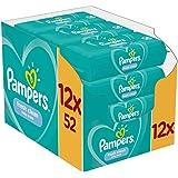 Pampers Fresh Clean Feuchttücher 12 Packungen (12 x 52 Stück), 624 Feuchttücher, Mit Frischem Duft, Dermatologisch…