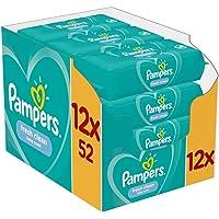 Pampers Fresh Clean Baby Feuchttücher, 624 Tücher (12 x 52) Mit Frischem Duft, Dermatologisch Getestet, Baby…