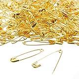 400-count–grande sicurezza spille di sicurezza per abbigliamento riparazione, quilting, creazione gioielli, oro–4,3x 1cm