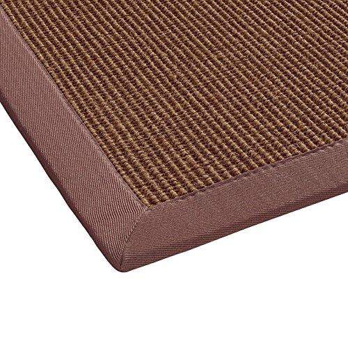 BODENMEISTER Sisal-Teppich modern hochwertige Bordüre Flachgewebe, verschiedene Farben und Größen, Variante: orange terra, 80x150