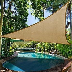 Rich-home Triangolo Ombra Vela Panno Protezione Solare Vele Ombreggianti Adatto A Famiglie, Parchi, Picnic All'aperto, Campeggio, Piscine, Campi da Gioco, ECC