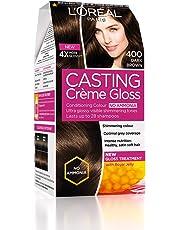 L'Oreal Paris Casting Creme Gloss Hair Color, Dark Brown 400, 87.5g+72ml