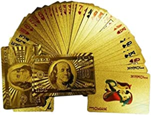 Zenith 24Kt Gold Plated Dollar Design Playing Cards