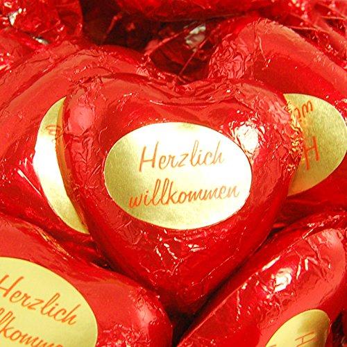 Preisvergleich Produktbild Storz Herzlich Willkommen,  Choco Herz,  50 Stück