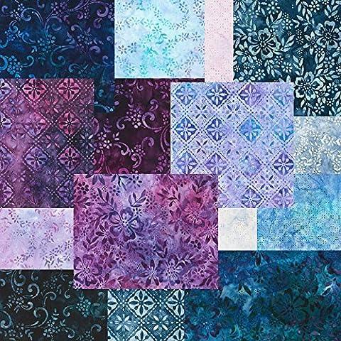 Floriculture Artisan Batik Charm Pack, 5 Squares, By Robert Kaufman, Cotton Fabric by Robert Kaufman Fabrics