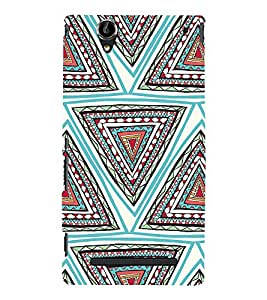 EPICCASE ethnic angles Mobile Back Case Cover For Sony Xperia T2 (Designer Case)