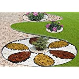 Ribbobboard 4.0kit de bordure de jardin Plastique 10metres pour les bordures, chemins, Pelouse + 60Piquets de sécurité