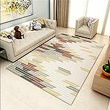 DIDIANX Geometrie Gitter Wohnzimmer Couchtisch Teppich Modern Einfache Mode IKEA Schlafzimmer Rechteck Teppich, 1.4 * 2