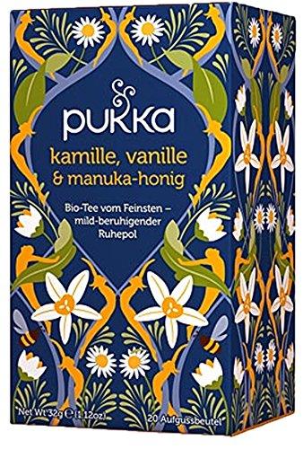 Kamille, Vanille & Manua-Honig PUKKA Tee BIO 4 Packungen à 20 Teebeutel
