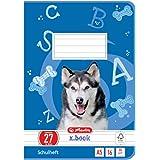 Herlitz 11322617–Cuaderno, 10 unidades, A5/, diseño (renglones) en color, certificado FSC Mixed, diseños variados