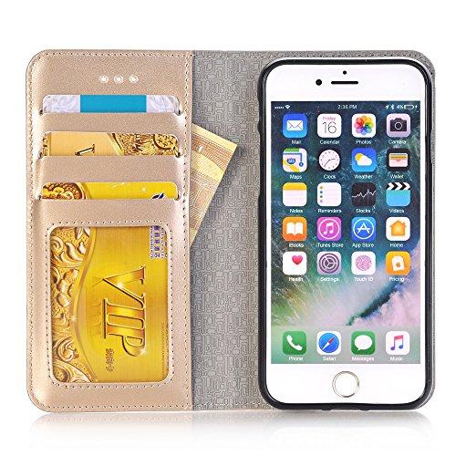 iPhone Case Cover IPhone 6s 7 Plus Case, 2 en 1 étui en cuir PU Housse de protection multifonctionnelle avec fonction de portefeuille pour Apple iPhone 6s 7 Plus ( Color : Blue , Size : Iphone6s ) Gold