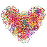 Multi Color Hair Holder Hair Tie Elastic Rubber Bands for Baby Girls, 2000 Pieces