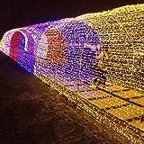 Lichterkette 100Er LED 10M Led Lichterketten Kupferdraht Für Für Ostern Zimmerdekoration Weihnachtslichterkette Party Hochzeit (8 Modi, IP65 Wasserdicht, Außenbeleuchtung, Warmweiß),10-Pack,Warmwhite