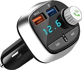 Nutmix FM Transmitter Bluetooth, Wireless MP3 Player Freisprecheinrichtung Auto Radio Adapter mit 2 USB ladegerät, Unterstützung USB Stick, SD Karte, für iPhone X/8 Plus/8/7 Plus/7/6 Plus/6/6s/5S/5, Samsung Galaxy S9/S8/S7/S6/Note 8/Note9, HuaWei, HTC usw.