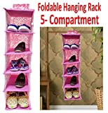 #8: Hanging Storage Box Foldable Organizer baby kids shoes box storage rack 5 Compartment - 1PC Foldable Storage Children Bedroom Home Toy mobile storage cloth hanging rack (23 Inch (H) x 7 Inch (W)) Folding Storage Organizer box