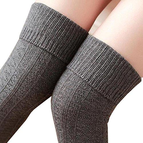 Knee High Socks 1 Paar Halten Overknee Strümpfe Stricken Sport Socken