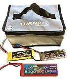 molinoRC LiPo Henkeltasche Turnigy Groß mit Reißverschluss 200 x 155 x 95 mm - Battery Guard Lipotasche Lipotschutz Feuerbeständige Schutztasche