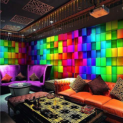 Papel Tapiz Mural Personalizado Arte Moderno Pintura Celosías de Colores Ktv Bar Sala de Estar Fondo de TV Murales Papel Tapiz 3D