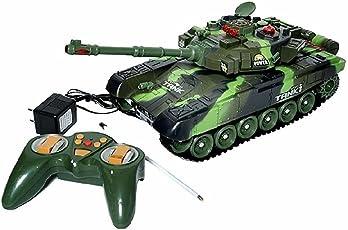 N&SS Plastic Remote Control War Tank Toy (Multicolour)
