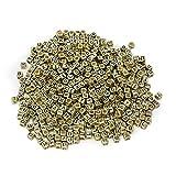 Mixed 500PCS 6mm Acrylplastik Buchstabenperlen Spacer Würfel Buchstabenperlen für DIY Armband-Halsketten -Anhänger (Gold Schwarz)