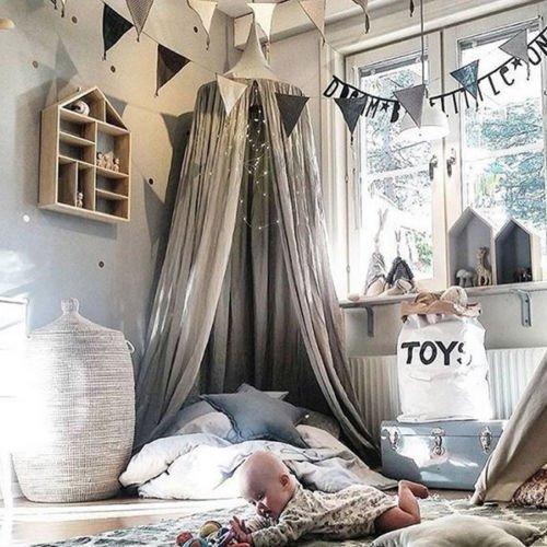 ENFANTS sommeil Ciel de lit hiver Parure de lit moustiquaire Tente dôme Coton