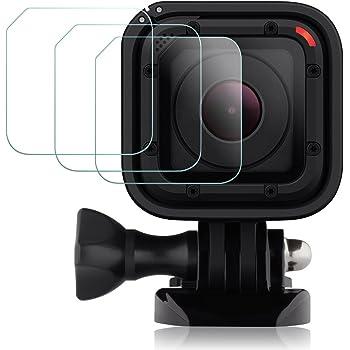 Films de Protection d'Ecran pour GoPro Hero4 Hero5 Session, AFUNTA Waterproof Protecteur de GoPro Hero 4 5 Session en Verre Trempé Optique (Pack 3)